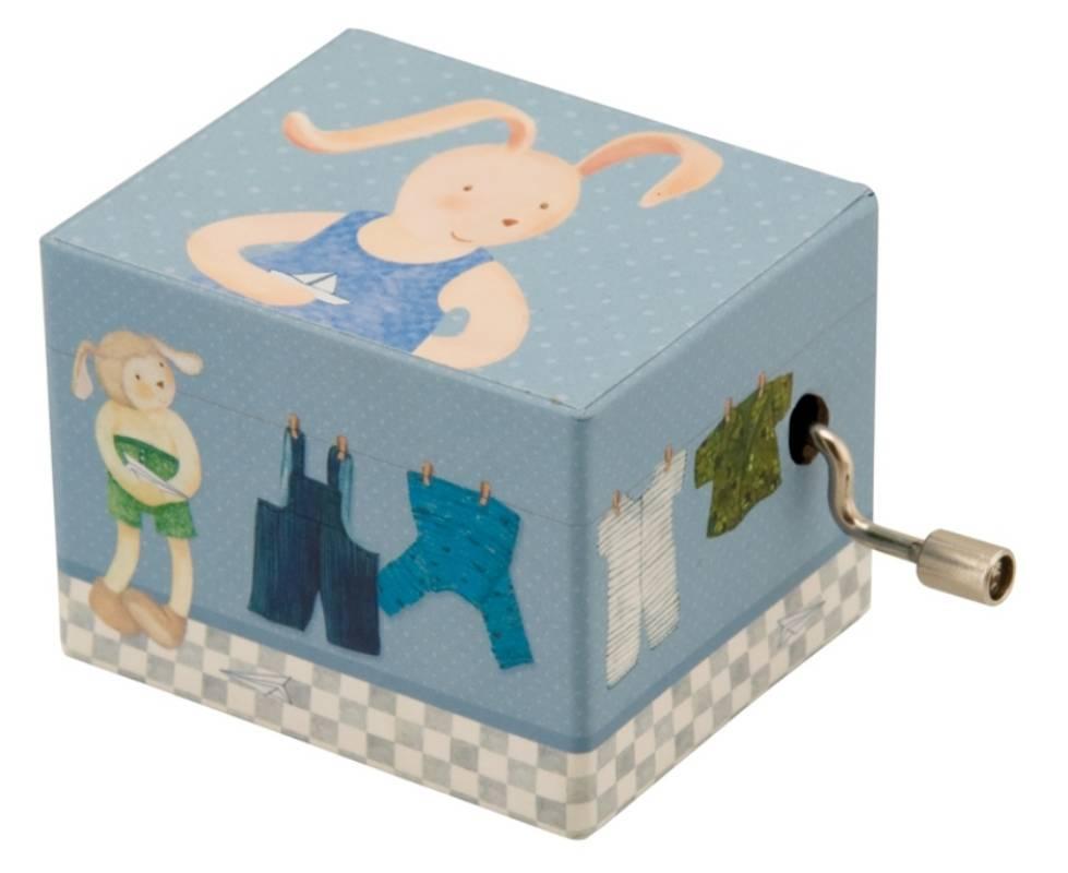 moulin roty boite musique manivelle bleue la grande famille. Black Bedroom Furniture Sets. Home Design Ideas