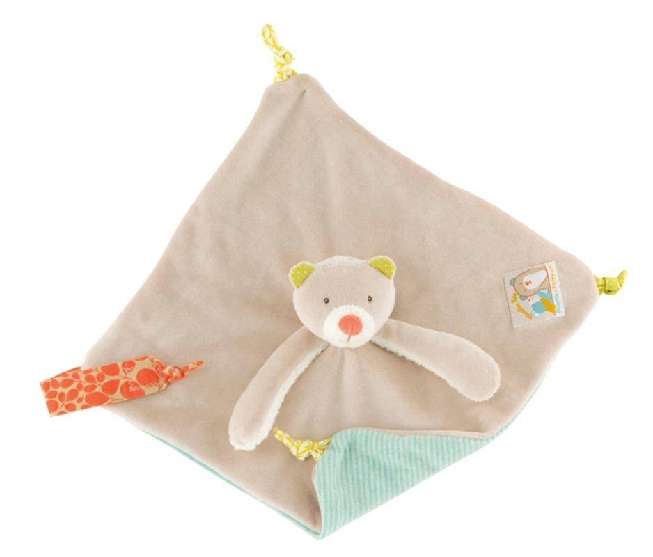 moulin roty   doudou ours biscotte et pompon