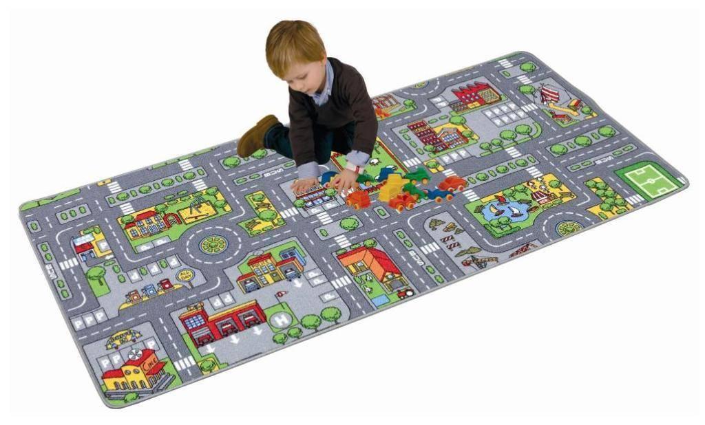 paradiso toys tapis circuit ville 100x190 cm. Black Bedroom Furniture Sets. Home Design Ideas