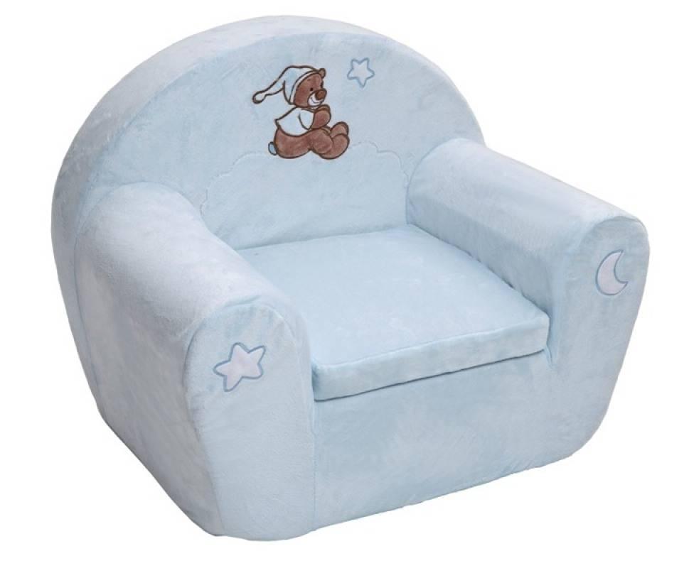 Nattou fauteuil ours bibou bleu doudouplanet for Bureau bebe 18 mois