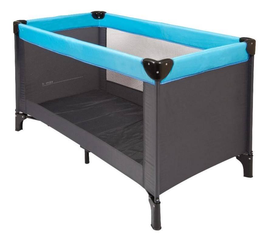 nattou lit parapluie gris turquoise doudouplanet. Black Bedroom Furniture Sets. Home Design Ideas