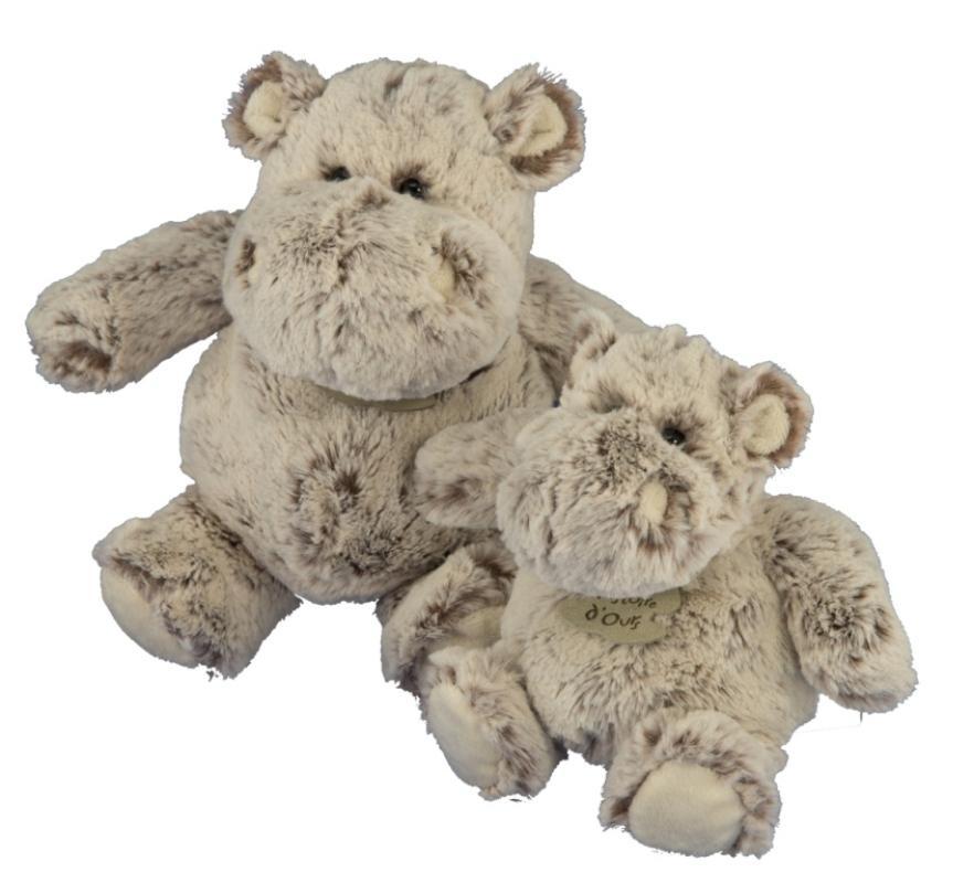 histoire d ours peluche hippo boule zanimoos 24 cm. Black Bedroom Furniture Sets. Home Design Ideas