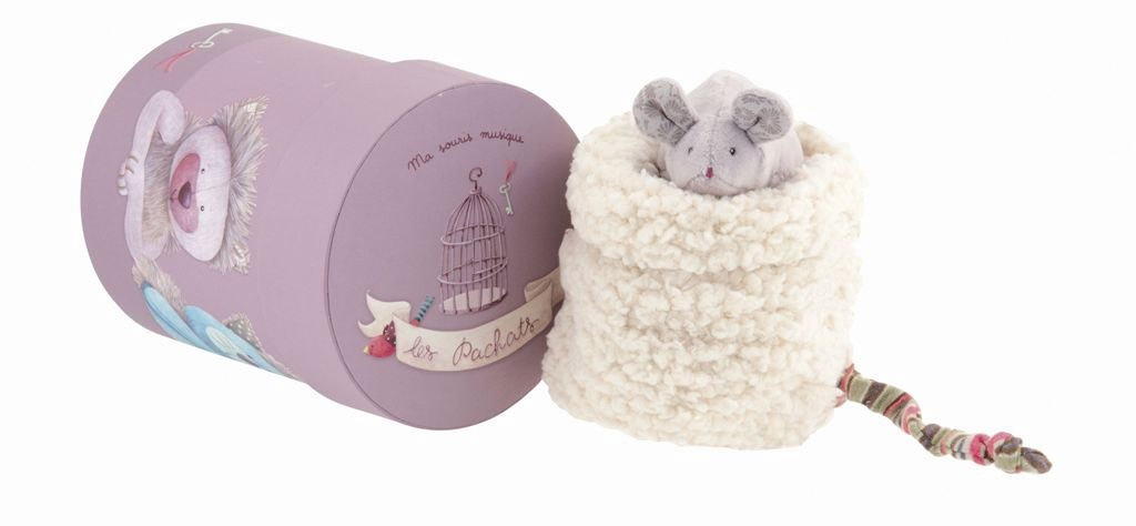 moulin roty peluche musicale souris les pachats. Black Bedroom Furniture Sets. Home Design Ideas