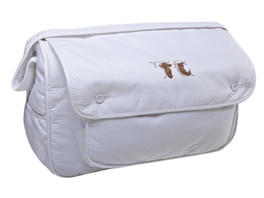tartine et chocolat sac de voyage point croix blanc. Black Bedroom Furniture Sets. Home Design Ideas