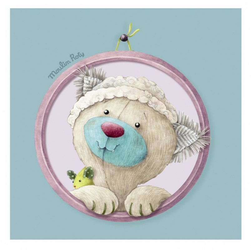 Moulin roty tableau minoucha les pachats 20x20 cm - Tableau moulin roty ...