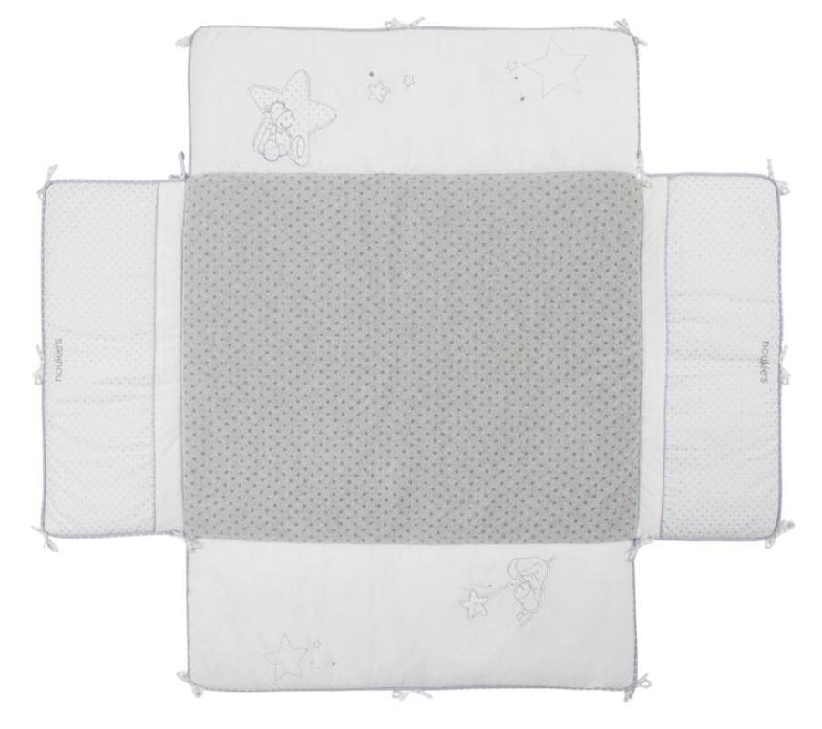 noukies tapis de parc poudre d 39 etoiles 75x95 cm. Black Bedroom Furniture Sets. Home Design Ideas