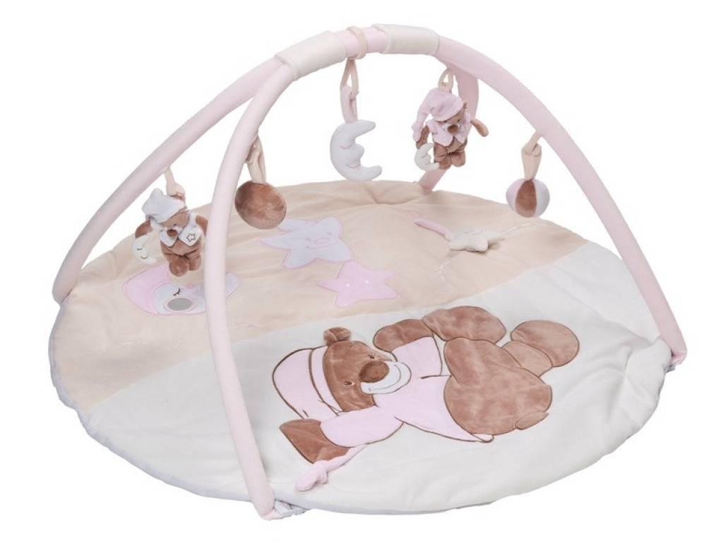 nattou tapis eveil ours bibou rose doudouplanet. Black Bedroom Furniture Sets. Home Design Ideas