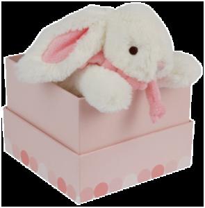 Peluche Lapin Bonbon Rose - 20 cm