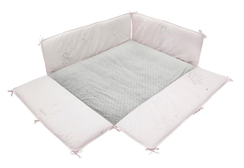 noukies tapis de parc poudre etoiles rose 75x95 cm. Black Bedroom Furniture Sets. Home Design Ideas