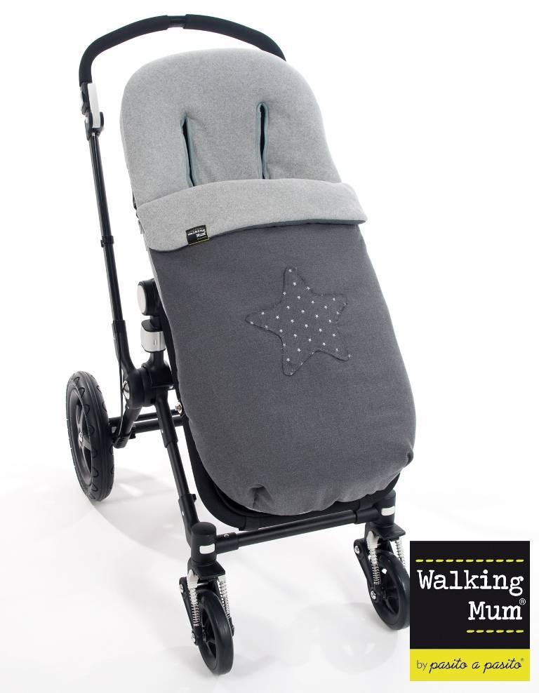 walking mum chanceli re poussette universelle gris gaby. Black Bedroom Furniture Sets. Home Design Ideas