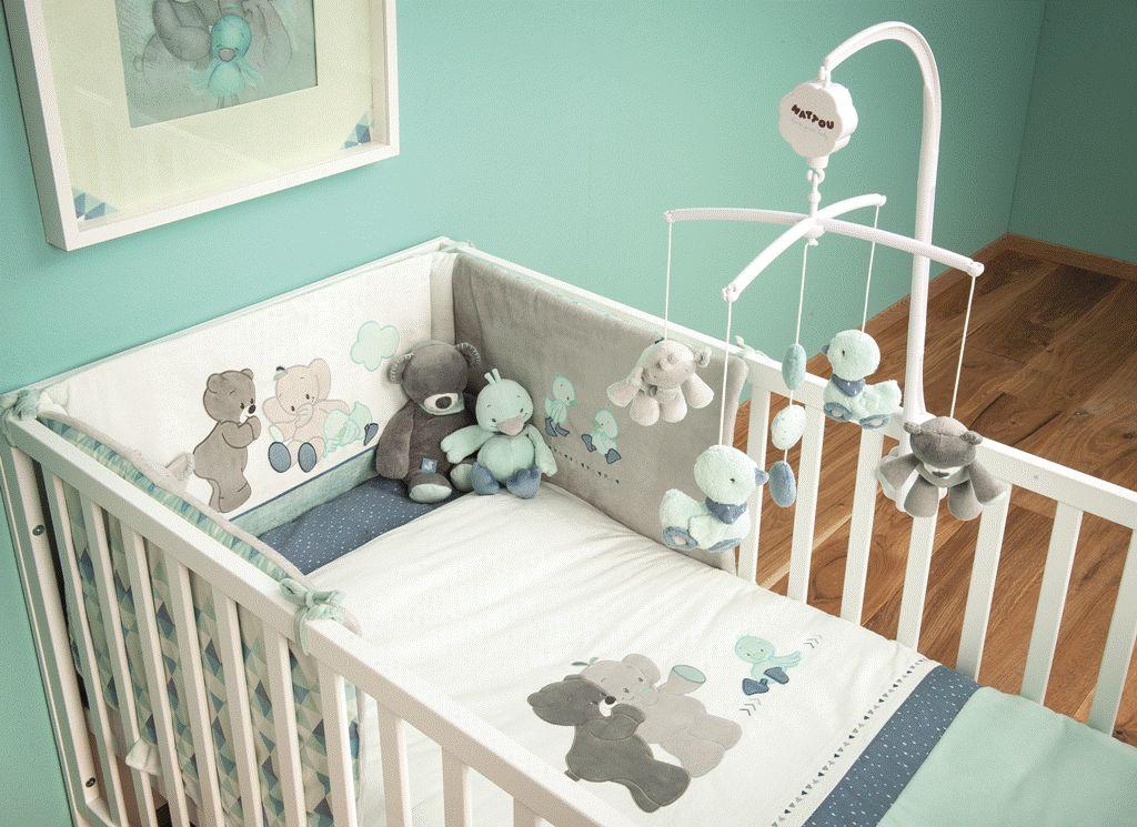 nattou tour de lit jack jules nestor doudouplanet. Black Bedroom Furniture Sets. Home Design Ideas