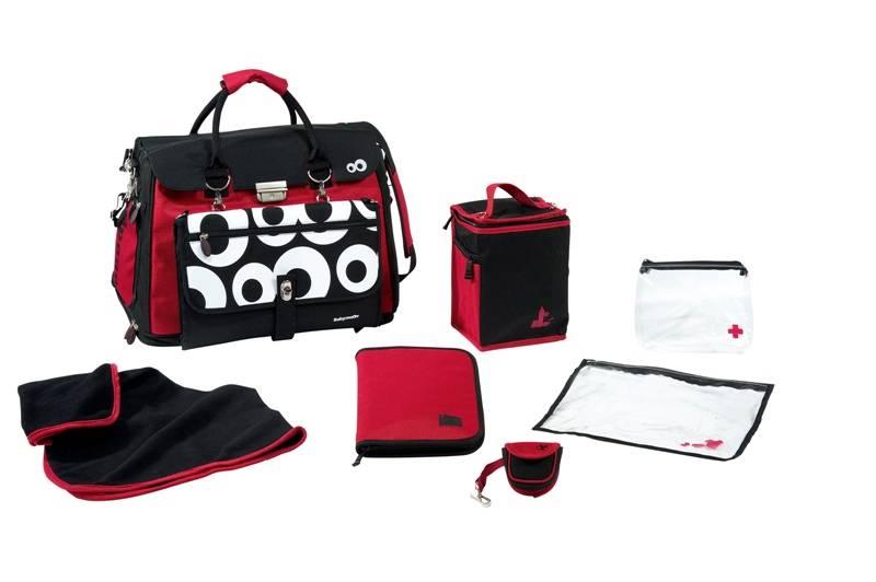 babymoov sac langer free hand noir rouge. Black Bedroom Furniture Sets. Home Design Ideas