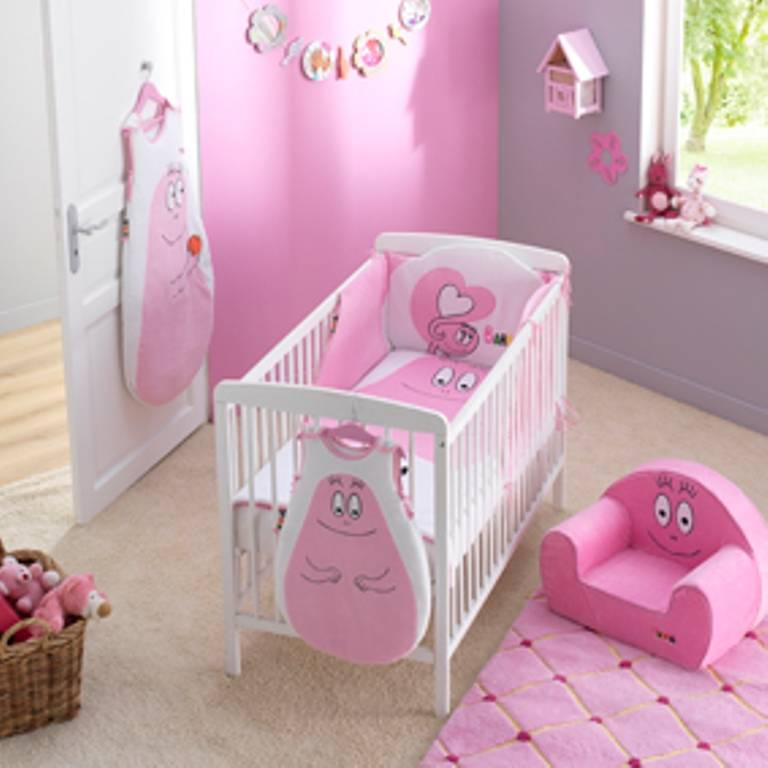 babycalin tour de lit barbapapa rose doudouplanet. Black Bedroom Furniture Sets. Home Design Ideas