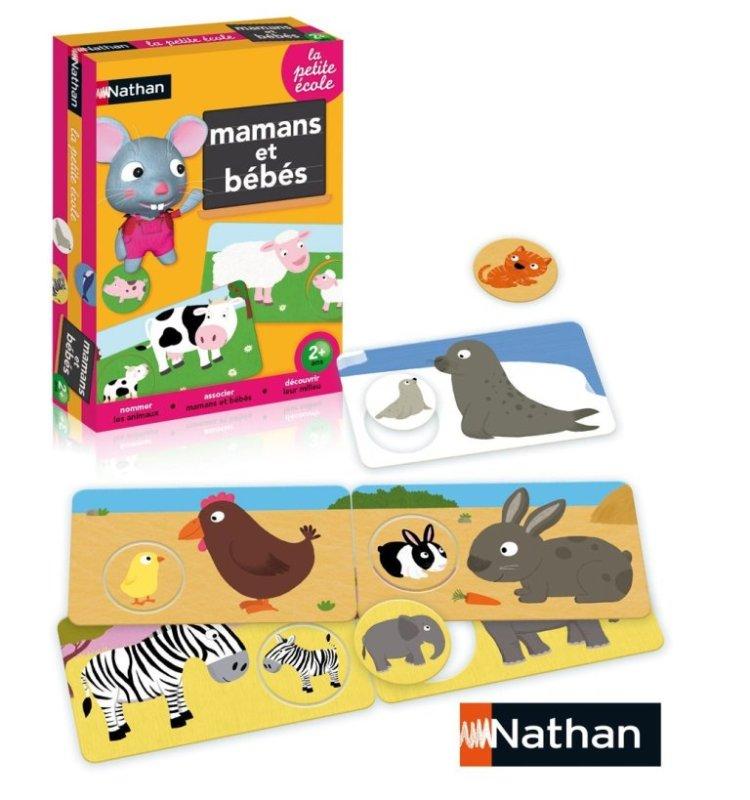 nathan jeux la petite ecole mamans et b b s animaux. Black Bedroom Furniture Sets. Home Design Ideas