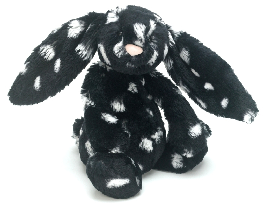 jellycat peluche lapin noir blanc paloma bashful 23 cm. Black Bedroom Furniture Sets. Home Design Ideas