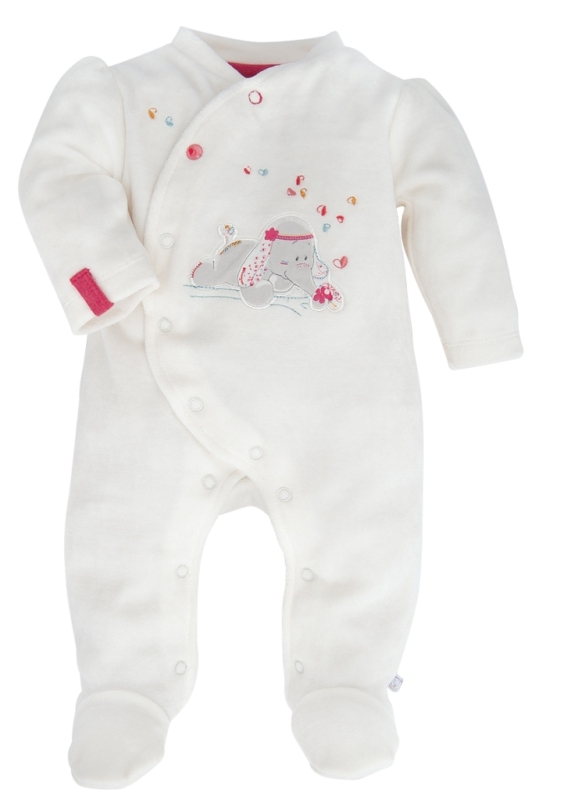 Noukies pyjama el phant anna blanc naissance - Pyjama elephant ...