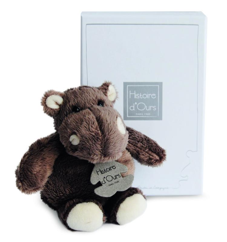 histoire d ours peluche hippopotame 12 cm. Black Bedroom Furniture Sets. Home Design Ideas