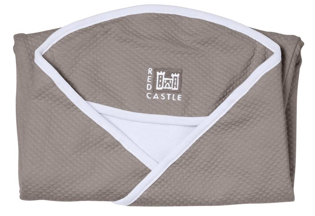 red castle couverture babynomade fleur de coton taupe. Black Bedroom Furniture Sets. Home Design Ideas