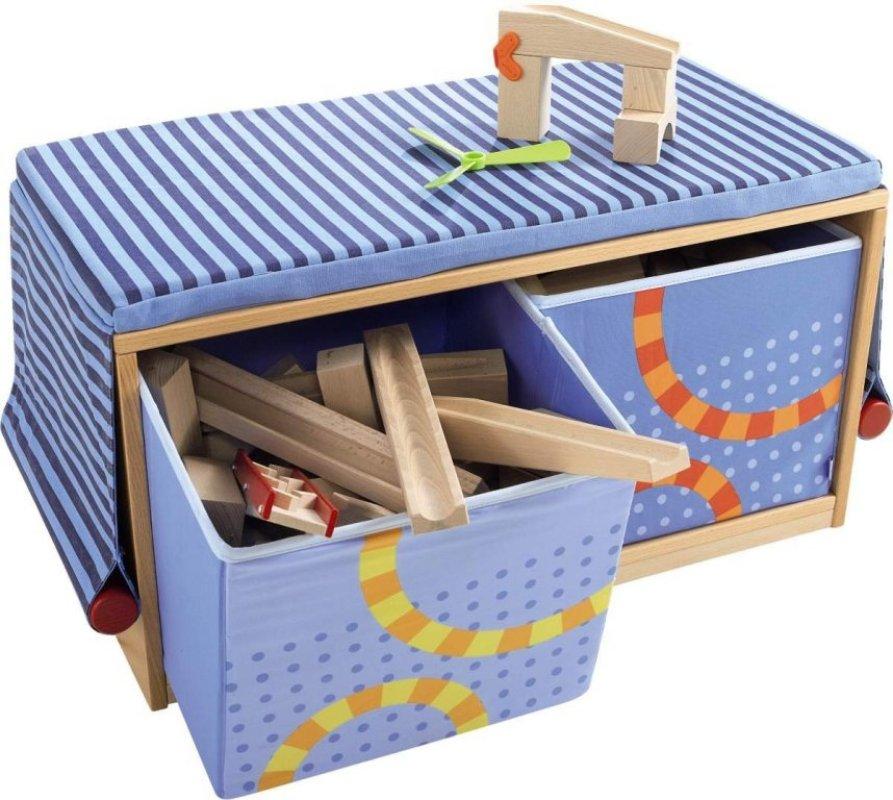 haba banc multifonctions avec bacs pliables. Black Bedroom Furniture Sets. Home Design Ideas