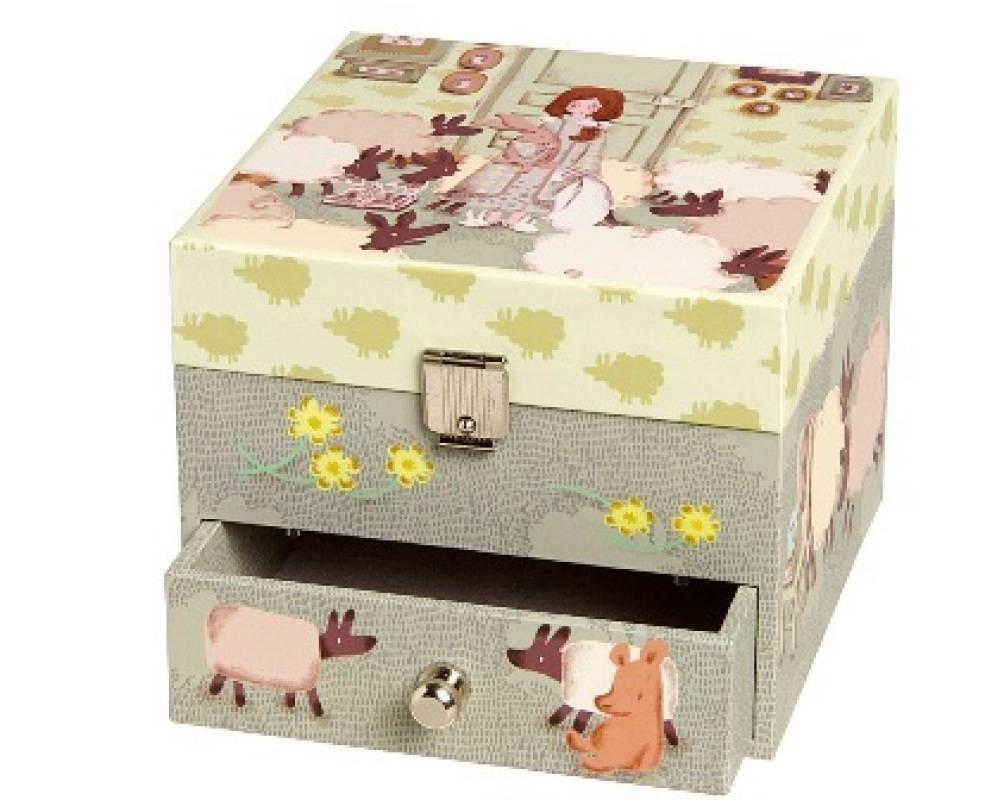 trousselier boite musique mouton doudouplanet. Black Bedroom Furniture Sets. Home Design Ideas