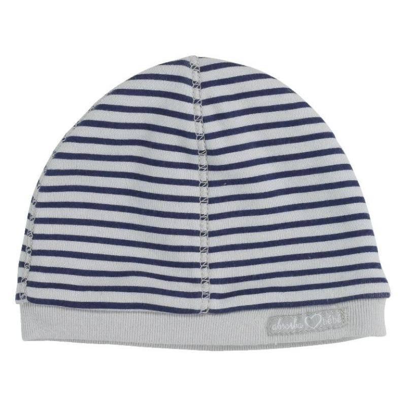 373bc0510a0b Absorba - Bonnet rayé bleu maternité Doudouplanet