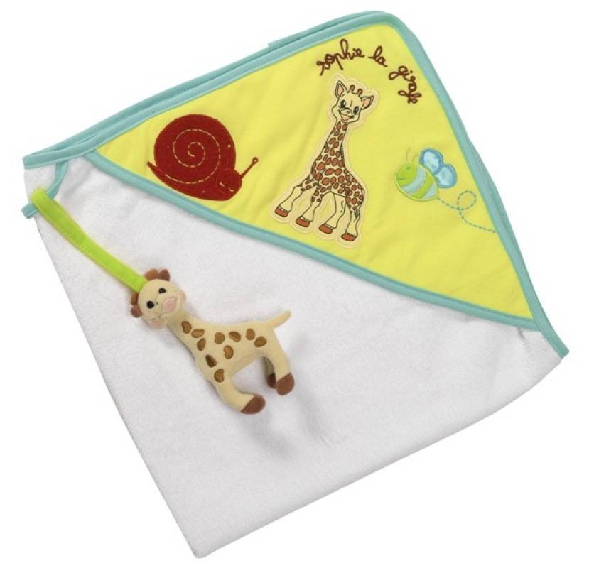 vulli cape de bain sophie la girafe doudouplanet. Black Bedroom Furniture Sets. Home Design Ideas