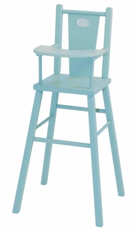 Moulin Roty Chaise haute bleu poupée coquette