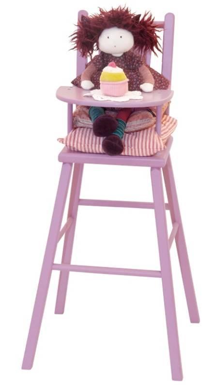Moulin Roty Chaise haute parme poupée coquette