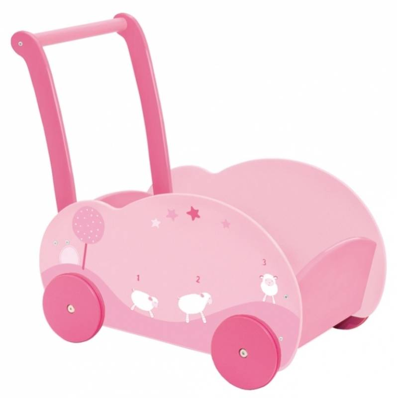 moulin roty chariot de marche souris lila. Black Bedroom Furniture Sets. Home Design Ideas