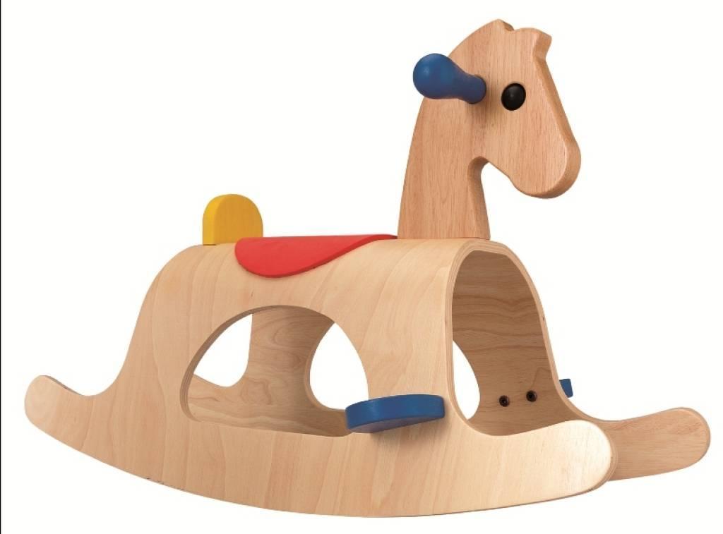 Plantoys cheval bascule bois palomino - Cheval a bascule bois ...