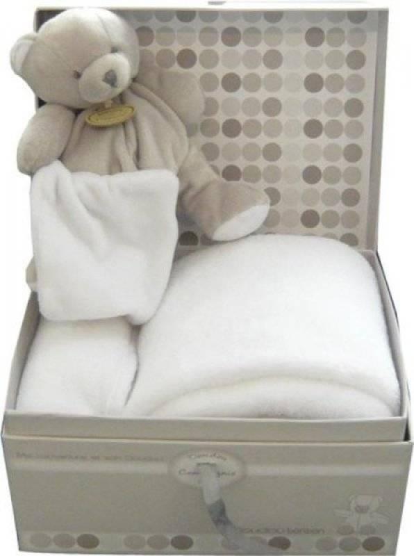 couverture doudou bébé Doudou Et Compagnie   Coffret couverture et doudou ours taupe bonbon couverture doudou bébé