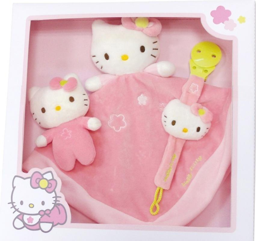 jemini coffret doudou hello kitty doudouplanet. Black Bedroom Furniture Sets. Home Design Ideas