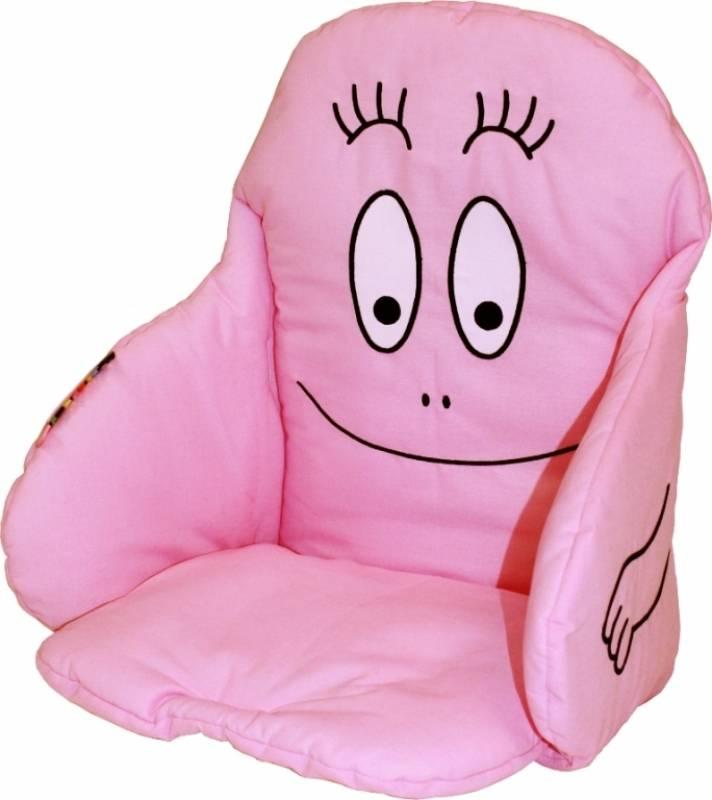 babycalin coussin de chaise barbapapa doudouplanet. Black Bedroom Furniture Sets. Home Design Ideas