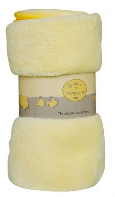 doudou et compagnie couverture polaire douceur jaune. Black Bedroom Furniture Sets. Home Design Ideas