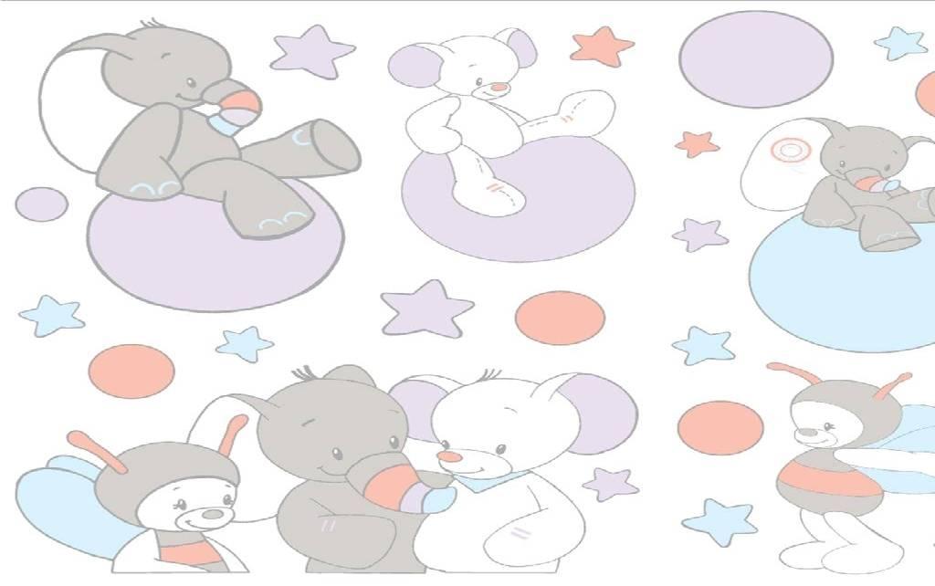 Nattou d coration murale autocollant bubbles - Decoration murale bebe ...