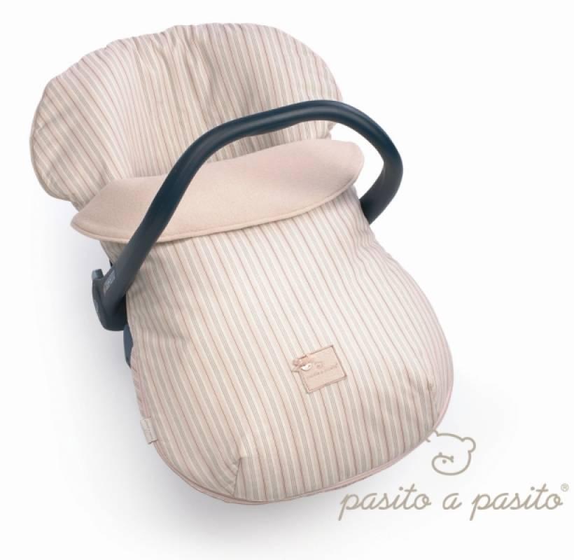 Pasito a pasito ensemble housse et couvre b b ray rose for Age pour siege auto