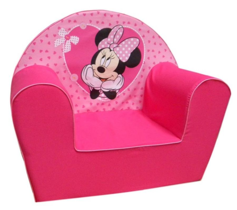 disney fauteuil minnie petits coeurs doudouplanet. Black Bedroom Furniture Sets. Home Design Ideas