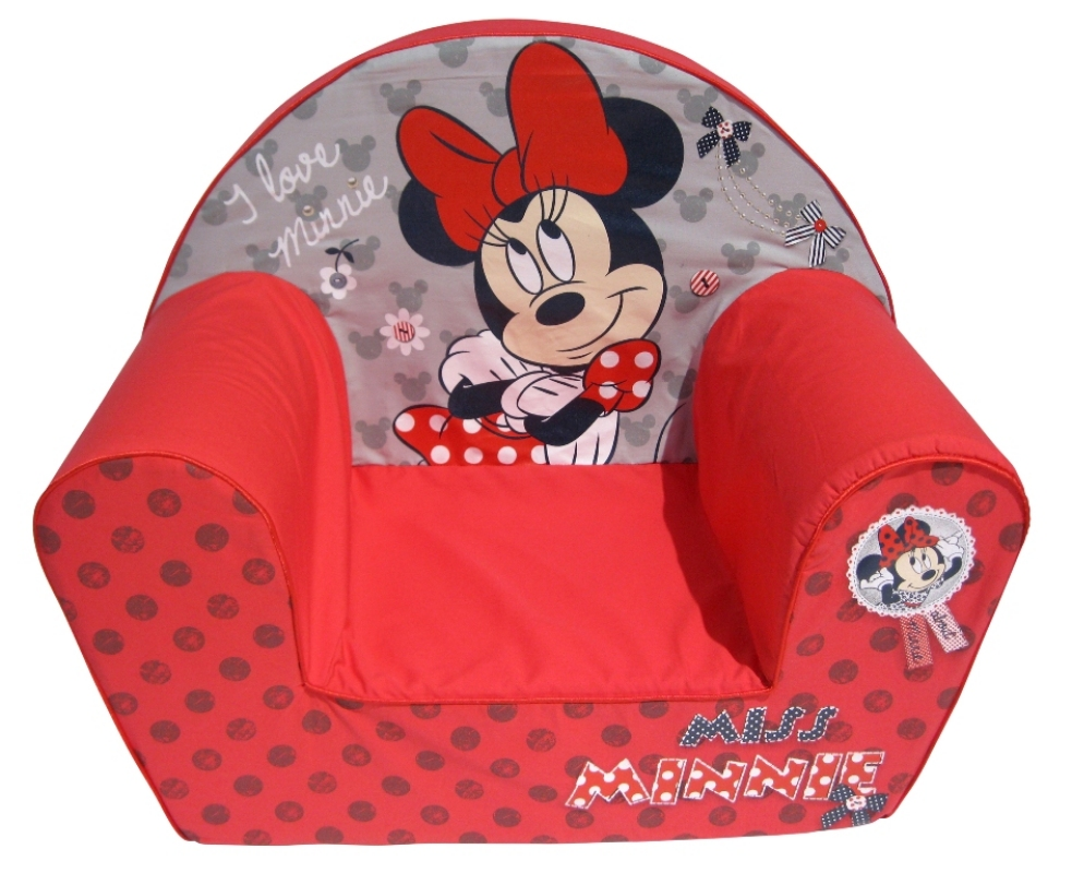 disney fauteuil miss minnie rouge doudouplanet. Black Bedroom Furniture Sets. Home Design Ideas