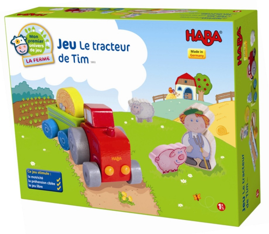Haba jeu le tracteur de tim doudouplanet - Jeu de tracteur agricole gratuit ...