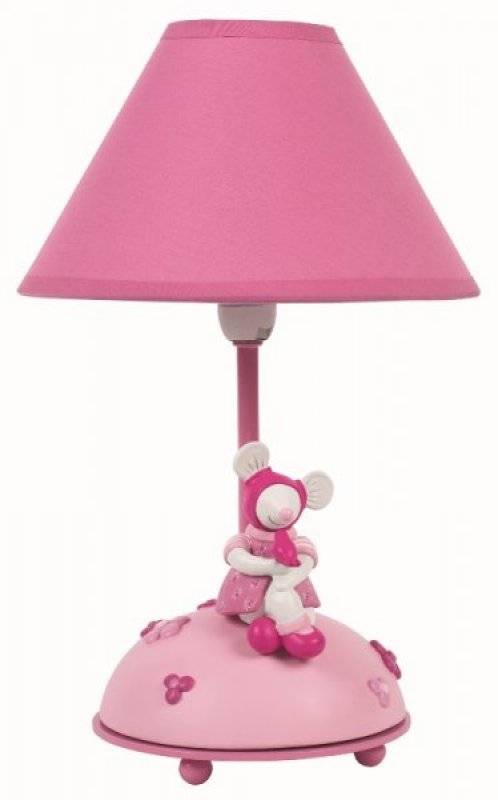 Moulin roty lampe chevet souris lila doudouplanet for Lampe de chevet bebe fille