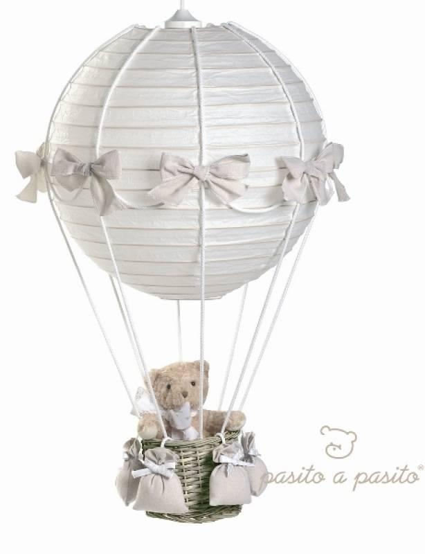 pasito a pasito lampe montgolfi re ours beige. Black Bedroom Furniture Sets. Home Design Ideas