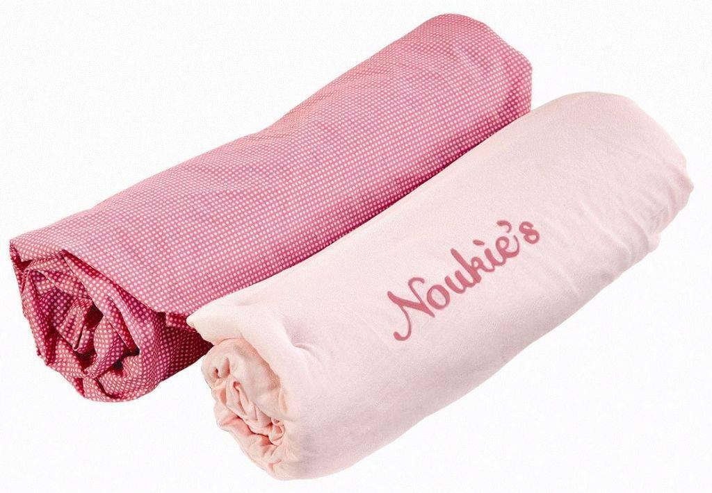 Noukies lot de 2 draps housse iris et babette 70x140 cm for Draps housse 70x140