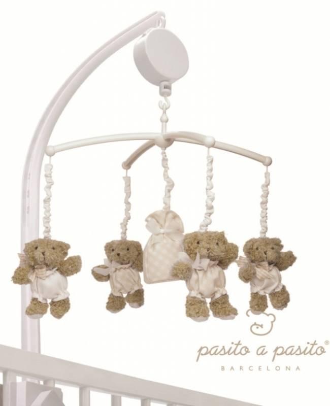 Pasito a pasito mobile musical ourson beige - Mobile musical bebe fille ...