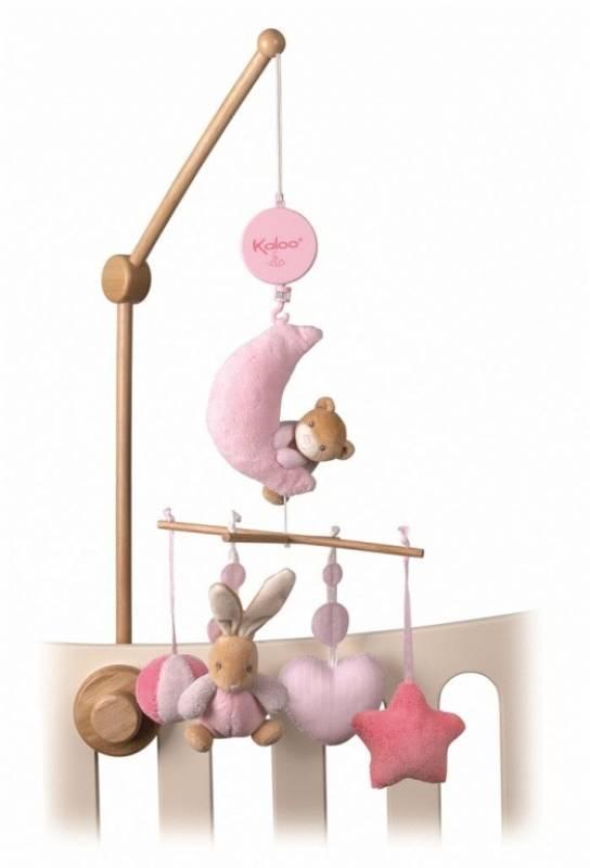 kaloo - mobile musical plume rose doudouplanet
