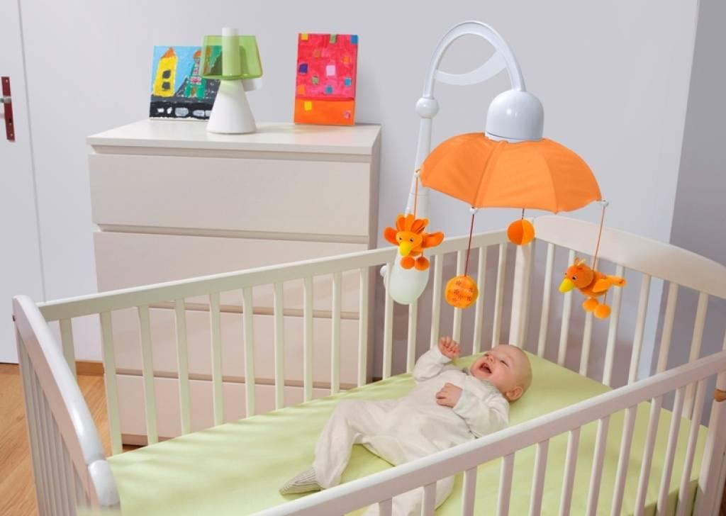 Babymoov mobile musical rainbow blanc et orange - Mobile musical bebe fille ...