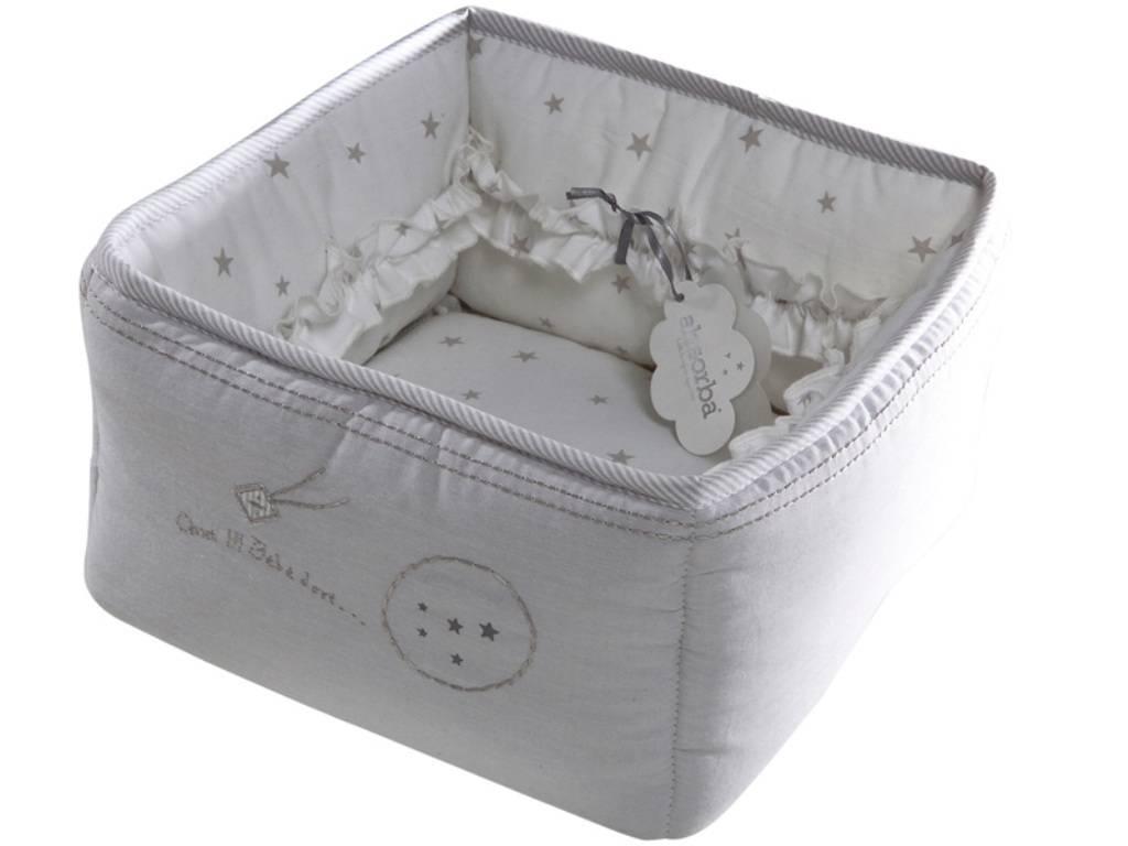 absorba panier de toilette etoil e nuage. Black Bedroom Furniture Sets. Home Design Ideas