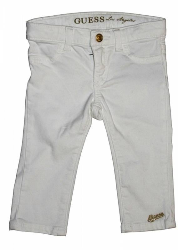 guess enfant pantalon stretch blanc 6 9 mois. Black Bedroom Furniture Sets. Home Design Ideas