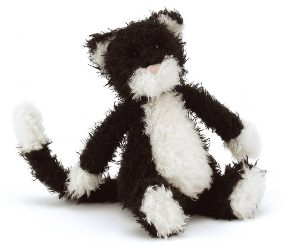 jellycat peluche chat camelia noir et blanc. Black Bedroom Furniture Sets. Home Design Ideas