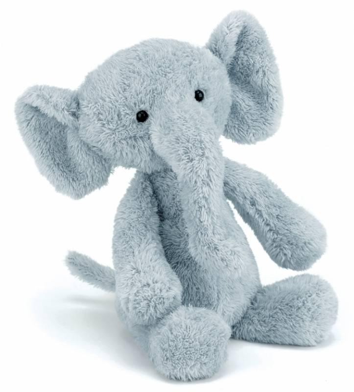 jellycat peluche elephant nugget bleu 31 cm. Black Bedroom Furniture Sets. Home Design Ideas