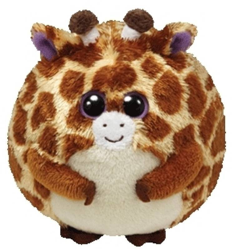 Ty - Peluchette boule girafe tippy beanie ballz 10 cm